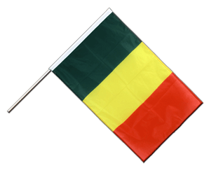 Mali Hand Waving Flag PRO 2x3 ft