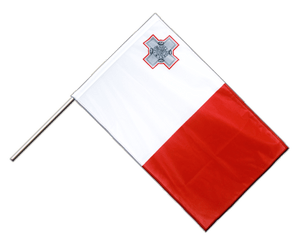 Malta Hand Waving Flag PRO 2x3 ft