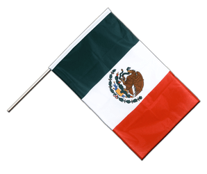 Mexico Hand Waving Flag PRO 2x3 ft