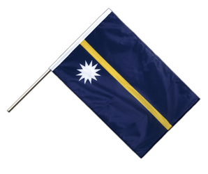 Nauru Hand Waving Flag PRO 2x3 ft