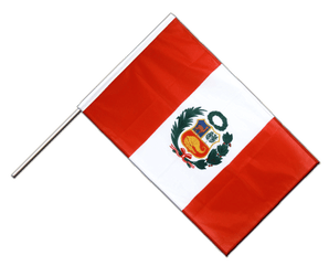 Peru Hand Waving Flag PRO 2x3 ft