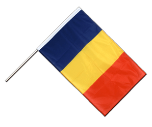 Rumania Hand Waving Flag PRO 2x3 ft