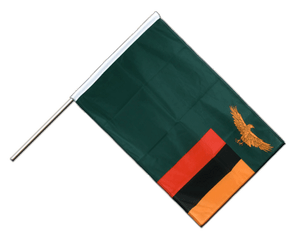 Zambia Hand Waving Flag PRO 2x3 ft