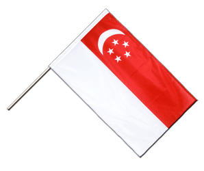 Singapore - Hand Waving Flag PRO 2x3 ft