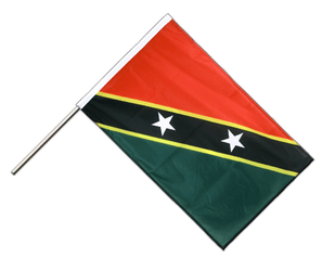 Saint Kitts and Nevis Hand Waving Flag PRO 2x3 ft