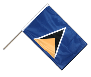 Saint Lucia Hand Waving Flag PRO 2x3 ft