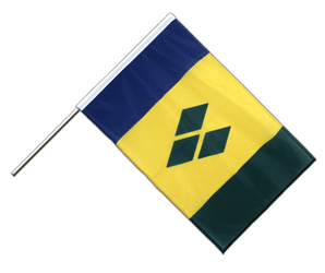 Saint Vincent and the Grenadines Hand Waving Flag PRO 2x3 ft