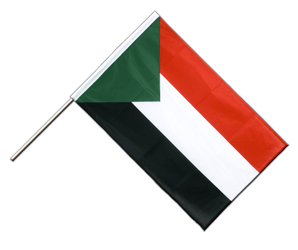 Sudan Hand Waving Flag PRO 2x3 ft