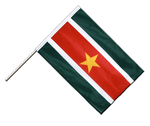 Suriname Hand Waving Flag PRO 2x3 ft