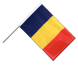 Chad Hand Waving Flag PRO 2x3 ft