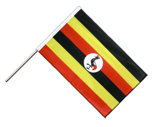 Uganda Hand Waving Flag PRO 2x3 ft