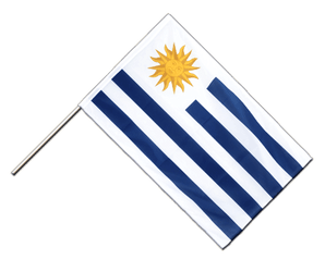 Uruguay Hand Waving Flag PRO 2x3 ft