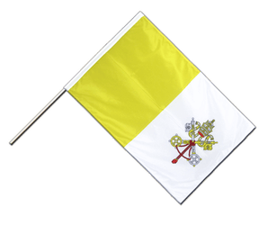 Vatican - Hand Waving Flag PRO 2x3 ft