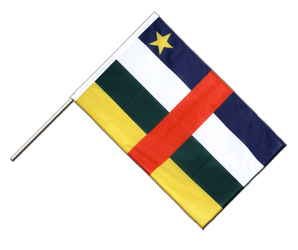 Central African Republic Hand Waving Flag PRO 2x3 ft