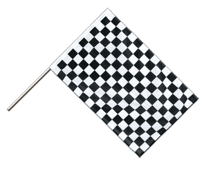 Checkered Hand Waving Flag PRO 2x3 ft