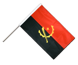 Angola Hand Waving Flag PRO 2x3 ft