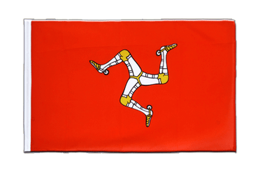 Isle of Man - Hohlsaum Flagge ECO 60 x 90 cm