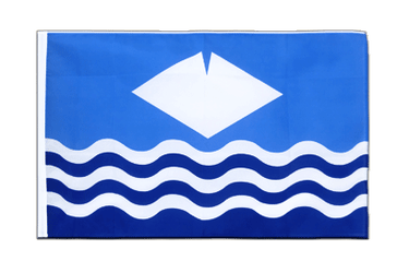 Isle of Wight - Hohlsaum Flagge ECO 60 x 90 cm
