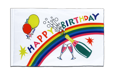 Happy Birthday Drapeau Fourreau ECO 60 x 90 cm