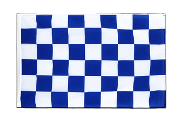 Checkered blue-white - Sleeved Flag ECO 2x3 ft