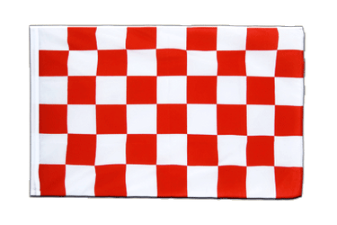 Checkered Red-White - Sleeved Flag ECO 2x3 ft