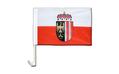 Upper Austria - Car Flag 12x16""