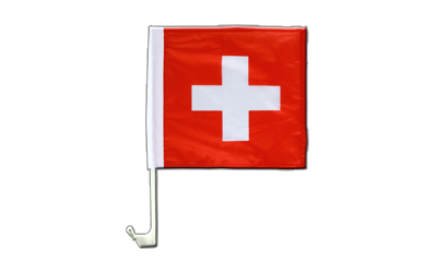 Switzerland Car Flag 12x12""