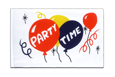 Party Time Hohlsaum Flagge ECO 60 x 90 cm