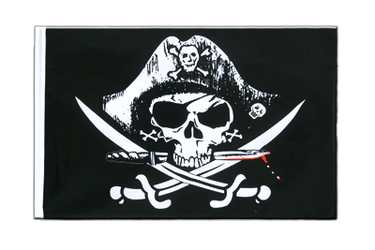 Pirate with bloody sabre Sleeved Flag ECO 2x3 ft