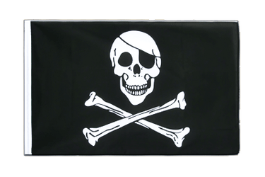 Pirat Skull and Bones Hohlsaum Flagge ECO 60 x 90 cm