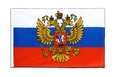 Russia with crest Sleeved Flag ECO 2x3 ft