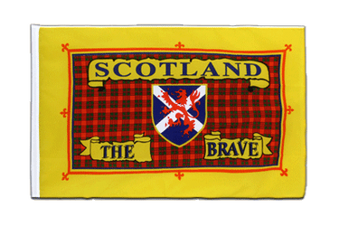Schottland Scotland The Brave - Hohlsaum Flagge ECO 60 x 90 cm