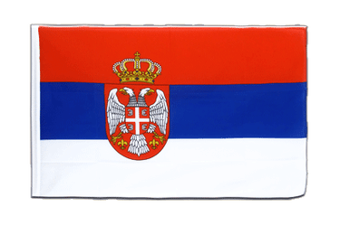 Serbia with crest Sleeved Flag ECO 2x3 ft