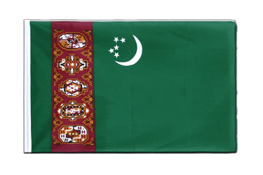 Turkmenistan Sleeved Flag ECO 2x3 ft