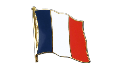 Grand pin's drapeau France 25 mm