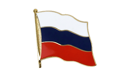 Russia Flag Lapel Pin XXL