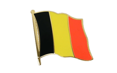 Grand pin's drapeau Belgique 25 mm
