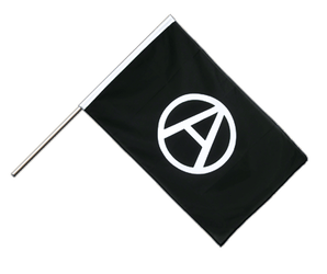 Anarchy Hand Waving Flag ECO 2x3 ft