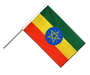 Ethiopia with star Hand Waving Flag ECO 2x3 ft