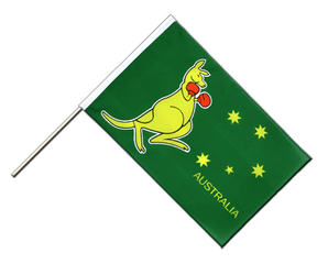 Australia kangaroo Hand Waving Flag ECO 2x3 ft