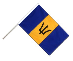 Barbados Hand Waving Flag ECO 2x3 ft