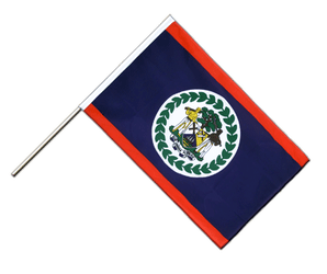 Belize Hand Waving Flag ECO 2x3 ft