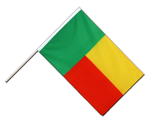 Benin Hand Waving Flag ECO 2x3 ft