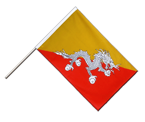 Bhutan - Hand Waving Flag ECO 2x3 ft