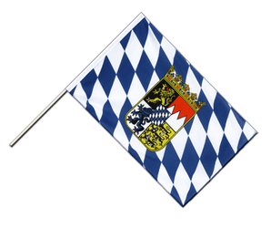 Bayern mit Wappen Stockflagge ECO 60 x 90 cm