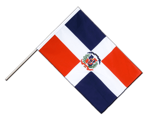 Drapeau République dominicaine Hampe ECO - 60 x 90 cm