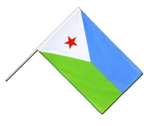 Djibouti - Hand Waving Flag ECO 2x3 ft