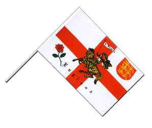 England with knight - Hand Waving Flag ECO 2x3 ft