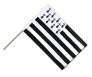 Brittany Hand Waving Flag ECO 2x3 ft