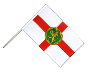 Alderney Hand Waving Flag ECO 2x3 ft